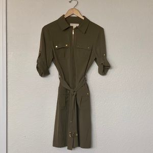 Michael Kors Olive Military Utility Dress